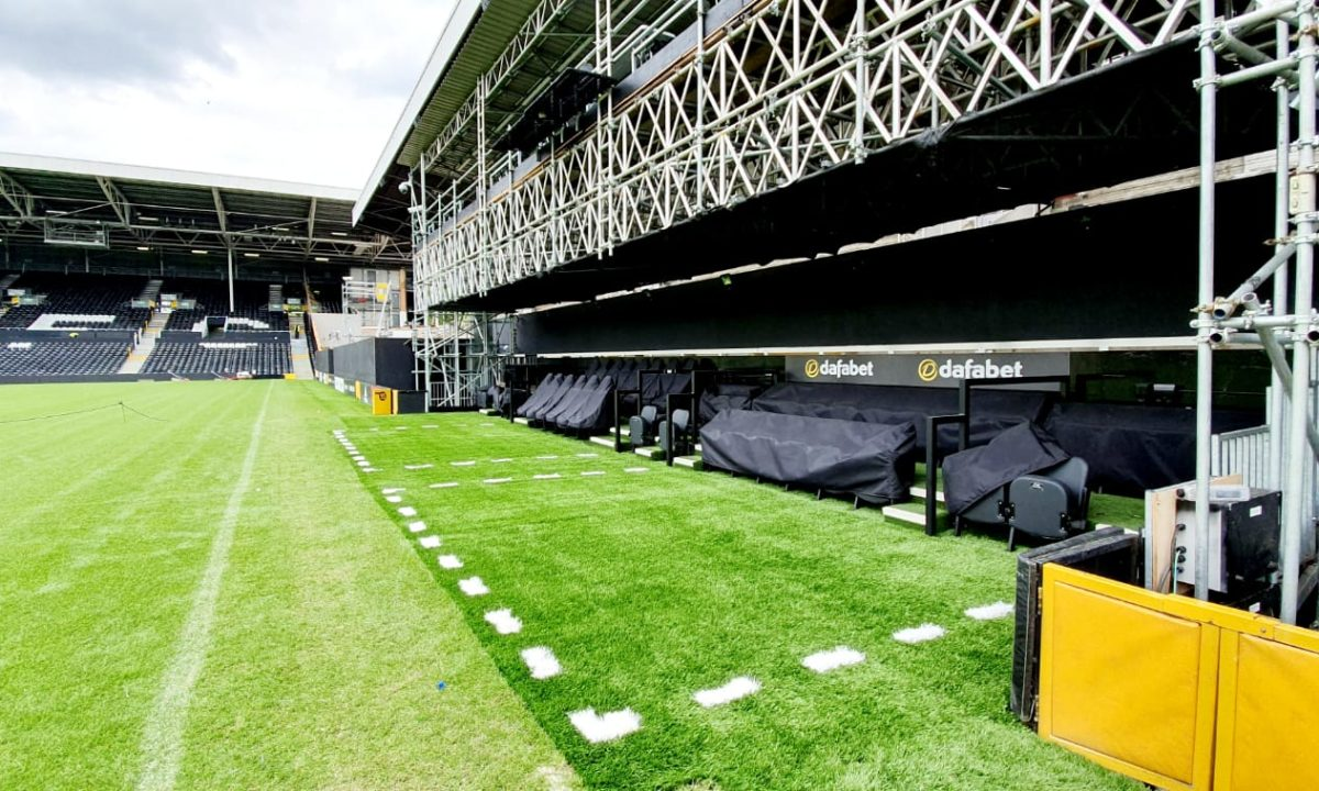 Commercial artificial grass at Fulham FC